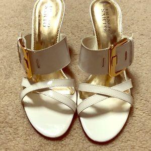 Franco Sarto 8.5 white patent heels
